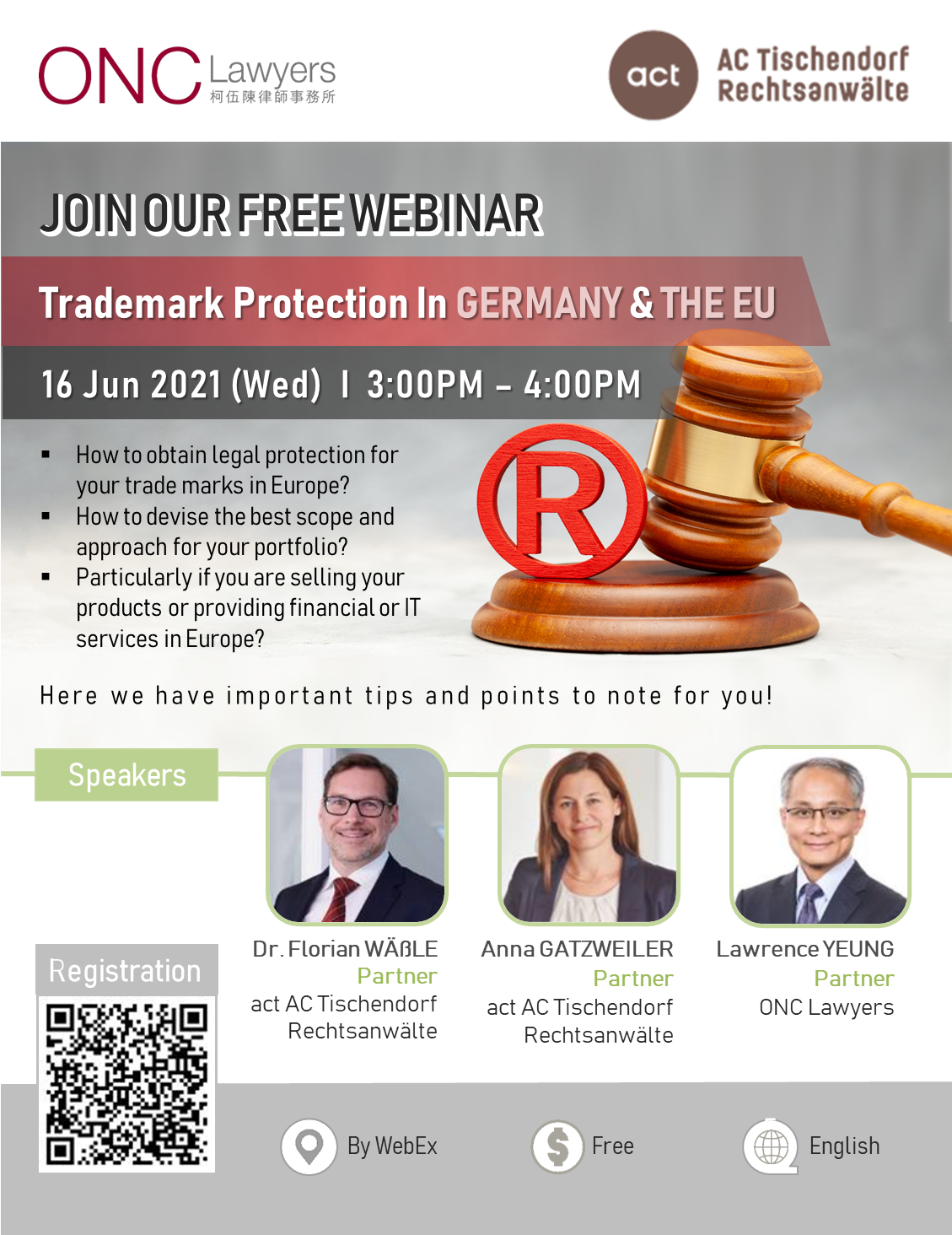 """""""Trademark Protection in Germany and the EU"""" Webinar"""